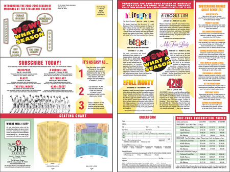 5th Avenue Theatre Tri-fold Brochure