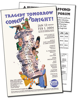 Flyer for A Funny Thing Happened on the Way to the Forum
