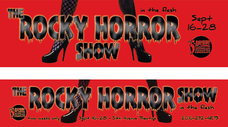 Transit and Marquee for The Rocky Horror Show
