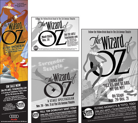 Wizard of Oz Print Ads