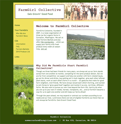 FarmGirl CSA website