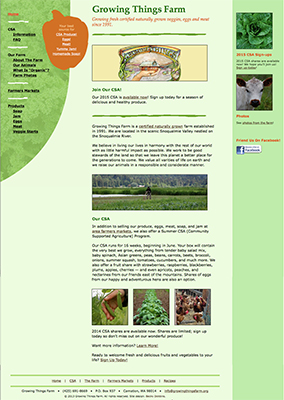 Growing Things Farm website